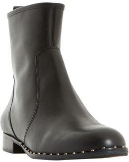 Pine Stud Embellished Ankle Boots