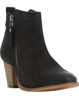 Pontoon Wide Fit Stacked Heel Ankle Boots