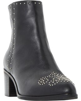 Queenie Embellished Pointed Toe Ankle Boots