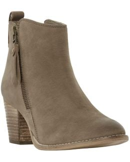 Pontoon Stacked Heel Ankle Boots