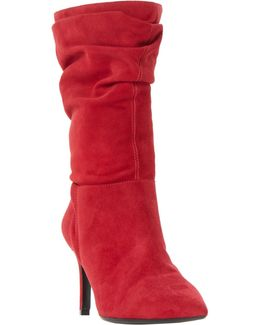 Reenie Pointed Toe Ruched Calf Boots
