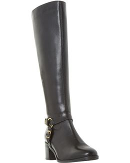 Vicky Block Heeled Knee High Boots