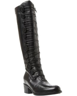 Pixie D Button Detail Knee High Boots