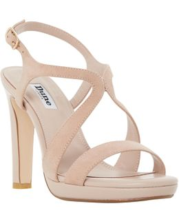 Maya Cross Strap Block Heeled Sandals