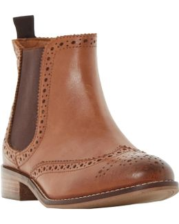 Quenton Brogue Chelsea Boots
