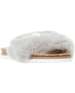 Lyra Faux Fur Slider Sandals