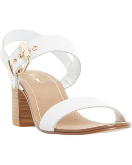 Jany Buckle Block Heeled Sandals