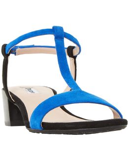 Issie T-bar Block Heeled Sandals