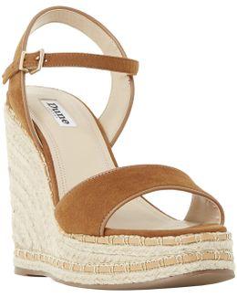 Krysie Raffia Wedge Heeled Sandals