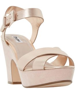 Iyla Block Heeled Cross Strap Platform Sandals