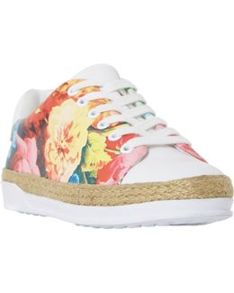 Elissa Floral Lace Up Trainers
