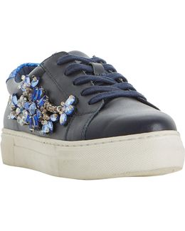 Emerelda Embellished Lace Up Trainers