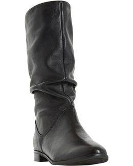 Rosalind Ruched Calf Boots