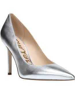 Hazel Metallic Leather Pumps