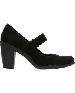 Adya Clara Block Heeled Court Shoes