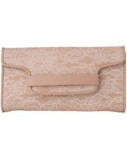 Laura Leather Lace Clutch Bag