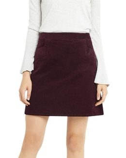 Cut About Cord Skirt