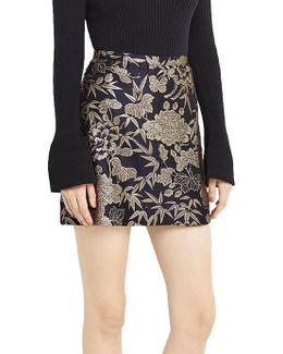 Kimono Jacquard Mini Skirt