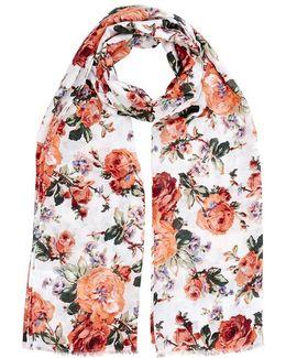 Floral Bloom Print Scarf