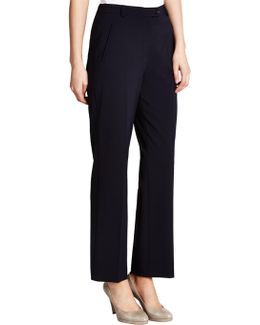 City Straight Leg High Rise Trousers