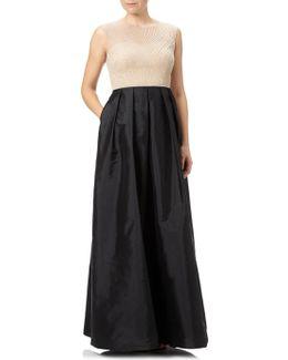 Beaded Bodice With Taffeta Skirt