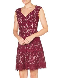Cynthia Lace Fit And Flare Dress