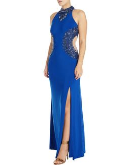 Beaded Halterneck Gown
