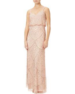 Petite Art Deco Beaded Blouson Gown