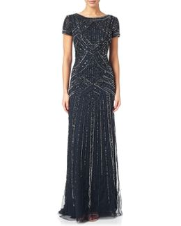 Geometric Beaded Gown