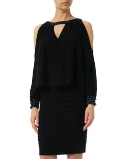 Cold Shoulder Pop Over Dress