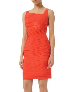 Banded Fitted Sheath Dress