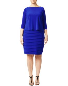 Plus Size Banded Two-for Dress