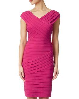 Portrait Open Neck Matte Jersey Dress