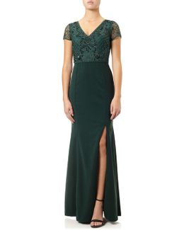 Jersey Beaded Gown