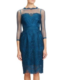 Venice Lace Midi Shift Dress