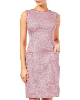 Onassis Tweed Trimmed Shift Dress