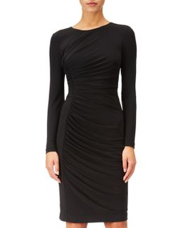 Gathered Sheath Dress