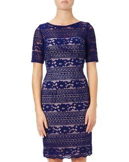 Corded Lace Shift Dress