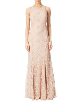Halter Neck Beaded Gown