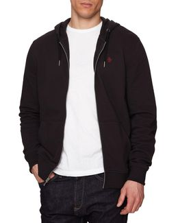 Raised Rib Pique Hooded Sweatshirt