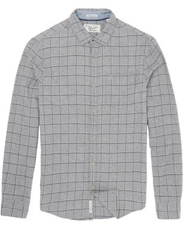 Brushed Flannel Window Pane Check Shirt