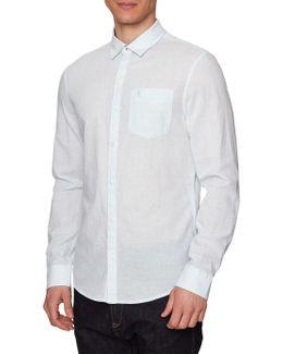 Long Sleeve Slub Linen Feeder Shirt