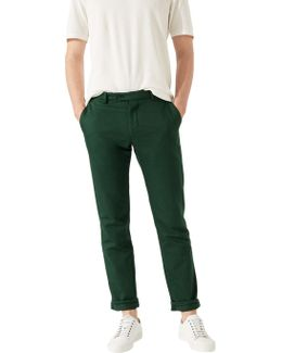 Garment Dye Italian Cotton Linen Trousers