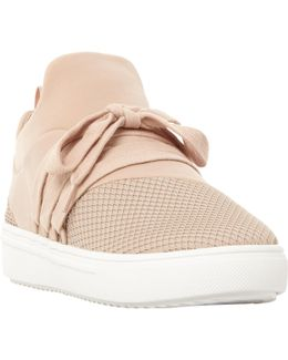 Lancer Mesh Detail Lace Up Perforated Trainers