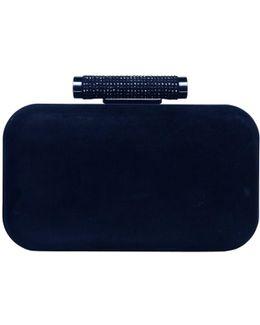 Sasha Suede Sparkle Clutch Bag