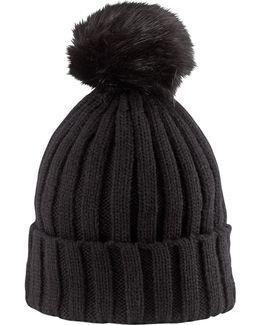 Wool Blend Pom Pom Hat