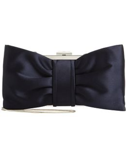 Suzie Satin Bow Clutch Bag