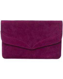 Caitlin Suede Clutch Bag
