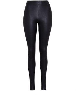 Silvia Slim Fit Leather Leggings