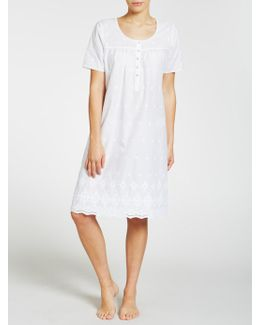 Broderie Anglaise Short Sleeve Nightdress